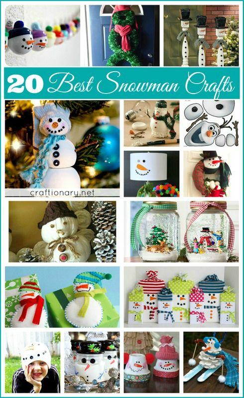 Best snowman crafts #snowman #winter