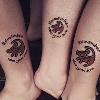 Rey león | 29 Tatuajes a juego que le darán metas serias a tu grupo de amigas