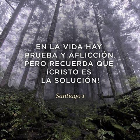En la vida hay prueba y aflicción, pero recuerda que Cristo es la solución.  Stg 1