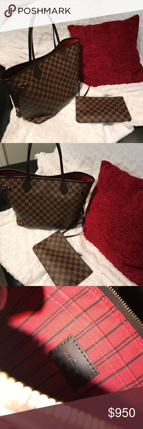 Louis Vuitton Paris bag. Medium size Louis Vuitton bag. Worn occasionally.  This was purchased back in February. Has a few pen marks in the big bag. Louis Vuitton Bags Totes