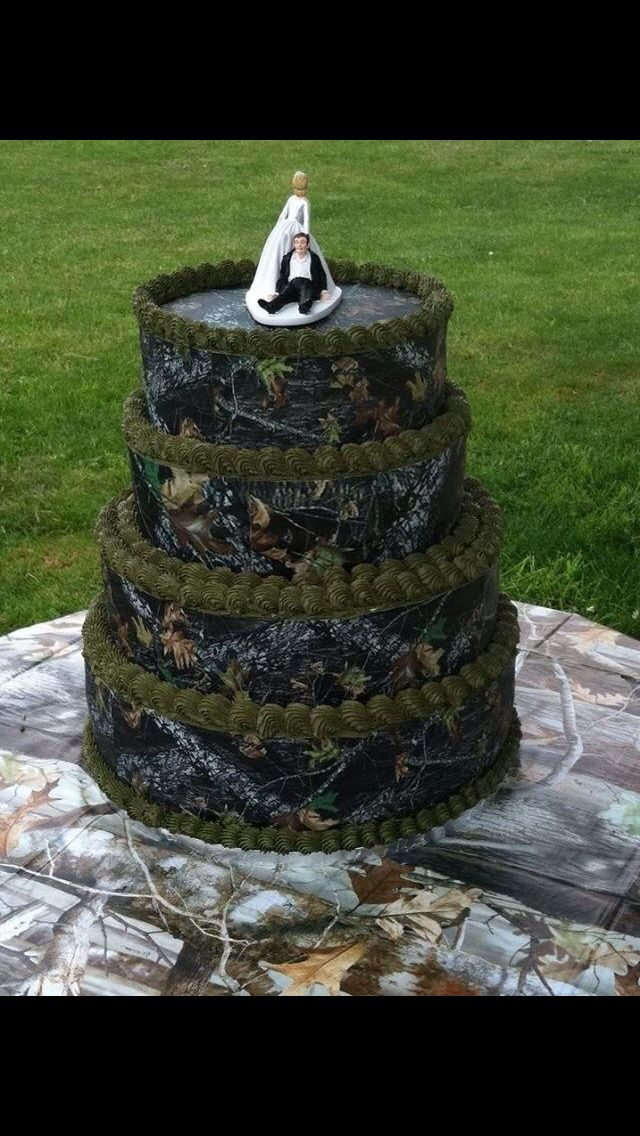 Maybe 1 or 2 layers for camo grooms cake
