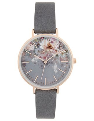 Update your style in seconds with our Arabella watch. Printed with pretty flowers to its face, this design features rose gold-tone details and a sleek leathe...