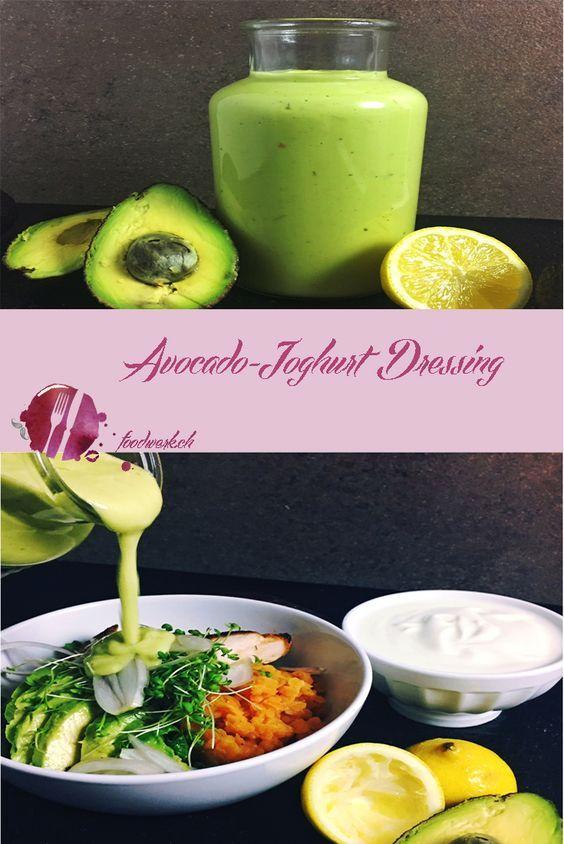 Da wir Salate in allen Variationen lieben und es bei uns täglich Salat gibt, hat sich zu unseren Dressings ein Neues dazu gesellt. Das Avocado-Jghurt Dressing ergänzt die Familie um das French Dressing, die italienische Salatsauce und das Pinienkerndressing. Nun haben wir genügend Auswahl, um eine Abwechslung zu garantieren und unseren Salat mit einer Sauce unserer Wahl zu geniessen. Dieses Avocado-Joghurt Dressing hat uns so gut geschmeckt, dass wir es am liebsten ausgelöffelt hätten.