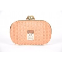 Isn't this great?? It's the Kardashian Kollection's Hard Case Straw Clutch in Coral, and it also comes in Black. Compact and sturdy, it would be fabulous for nightclubbing, or maybe a summer wedding ... where would you take it?