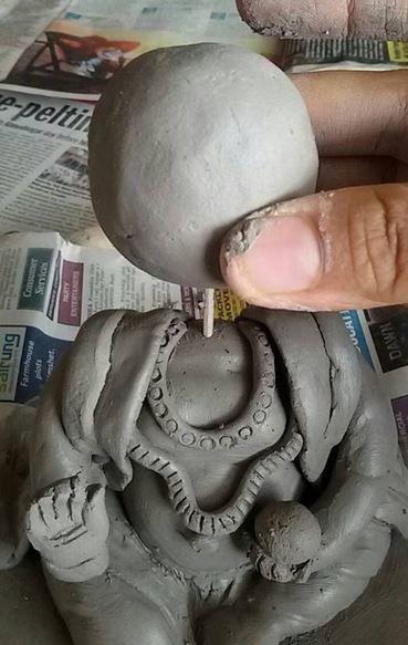 How to Make Ganesh Idol at Home 15