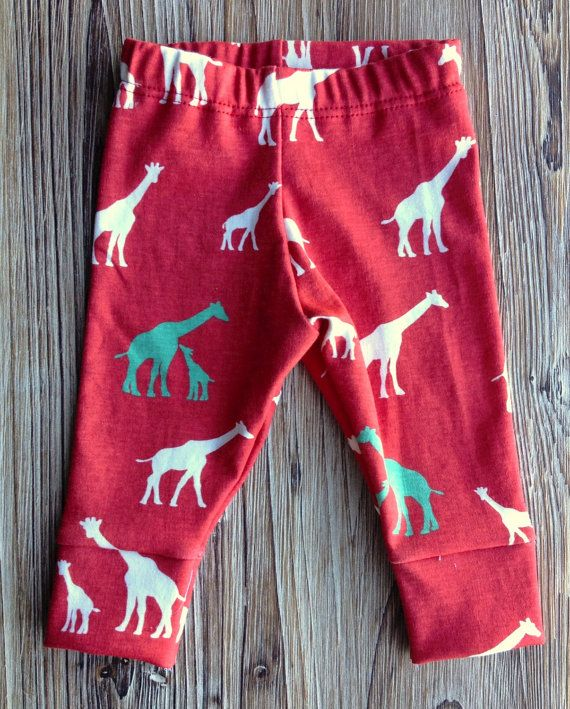 Jambières organiques, jambières nouveau-né, jambières bébé, leggings toddler, jambières, publicité imprimée de girafe, bébé bio, cadeau bébé