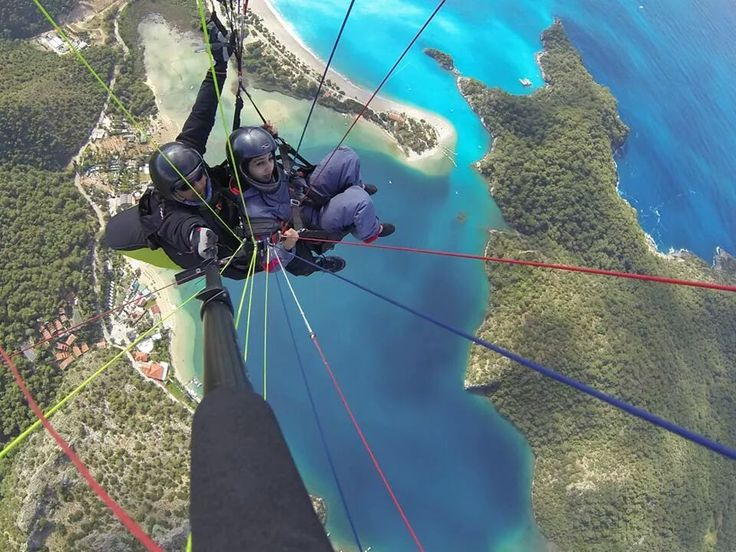 Tandem #paragliding from #Babadag mountain in #Oludeniz #Turkey