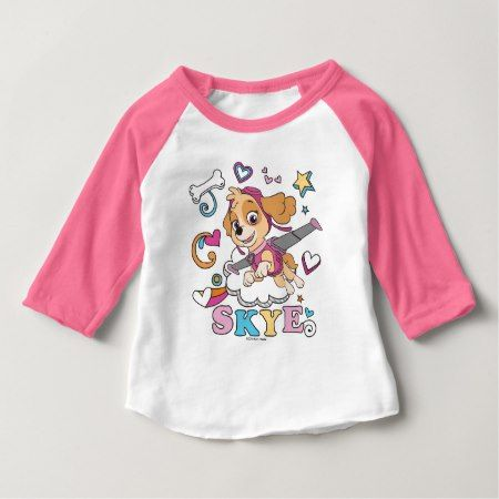 PAW Patrol | Skye - Pastel Doodle Baby T-Shirt - tap, personalize, buy right now!