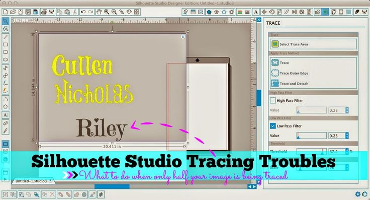 Silhouette Studio: Trace Tool Only Tracing Half the Image (Troubleshooting Tutorial)