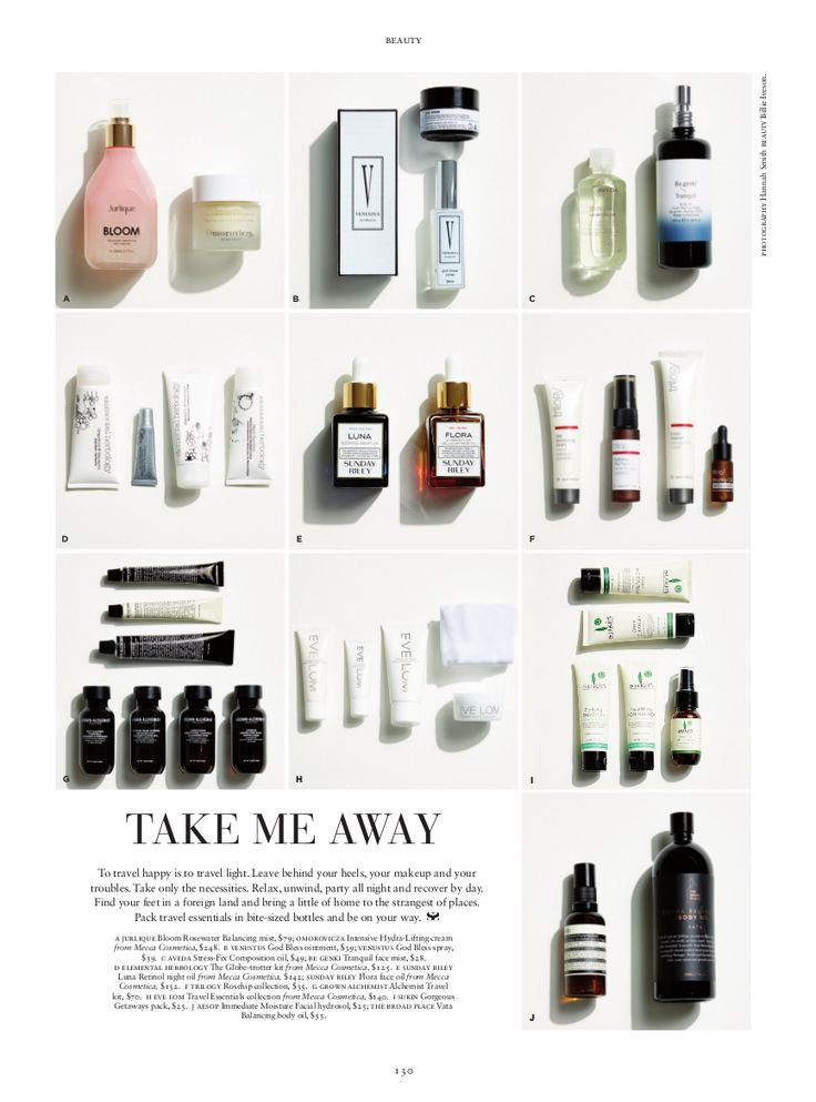 RUSSH beauty magazine  to travel happy is to travel light.. great article featuring Venustus Australia products  #russh #magazine #beauty #makeup #venutus #cover #travel #beautytips