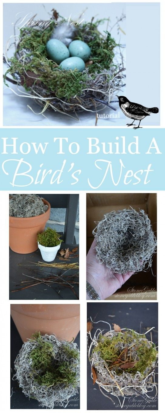 HOW TO BUILD A BIRD'S NEST- so easy and looks authentic stonegableblog.com