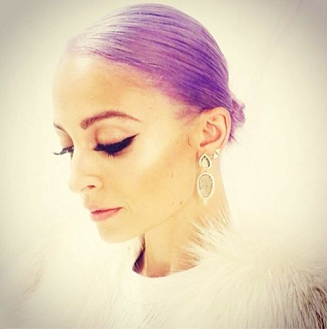Nicole Richie Dyes Her Hair Purple: Picture - Us Weekly