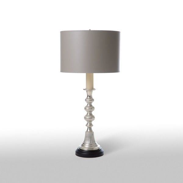 Fluted Pewter Candlestick Lamp Barbara Cosgrove