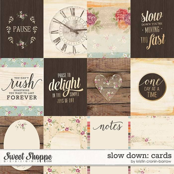FREE Slow Down Cards by Kristin Cronin-Barrow Designs