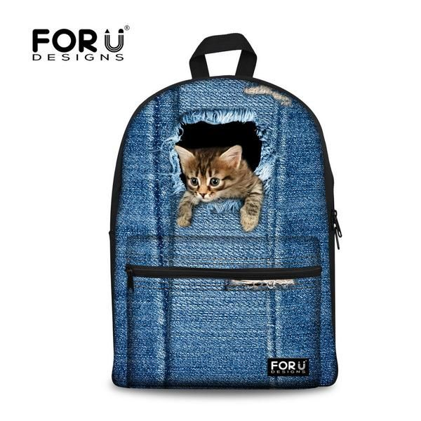 3-D Canvas Backpacks