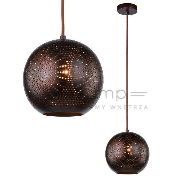 LAMPA wisząca SFINKS 31-43283 Candellux orientalna OPRAWA metalowa marokański ZWIS ażurowy IP20 kula brązowa #lampawiszaca #szklanelampy #wystrojwnetrz #nowoczesneoswietlenie #pokojdzienny #salon #modernlighting #modernstyle #crystal #interior #interiorlighting #interiordesign #homedesign #homedecor #rozswietlamywnetrza #mlamp
