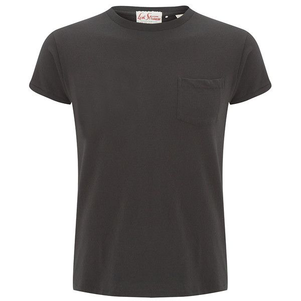Levi's Vintage Men's 1950s Sportswear T-Shirt - Black (245 BRL) ❤ liked on Polyvore featuring men's fashion, men's clothing, men's shirts, men's t-shirts, black, mens shirts and mens t shirts