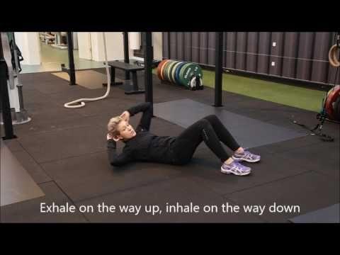 Fitness | Oblique curl | Skrå mavebøjning
