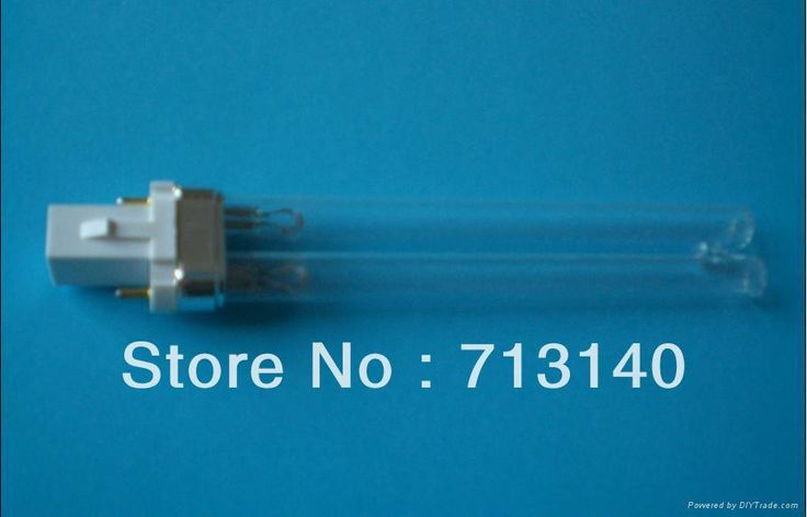 UV LAMP 5W REPLACEMENT Therapure 101M, 201M, TPP2010,  UV Mini Pond Clarifier, UV5, Ushio 3000321, GPX5, 102mm in length, bi-pin
