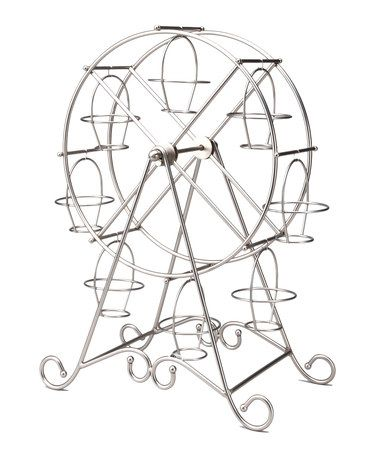 Now, I gotta have one of these.... This Silver Ferris Wheel Cupcake Holder by Godinger is perfect! #zulilyfinds