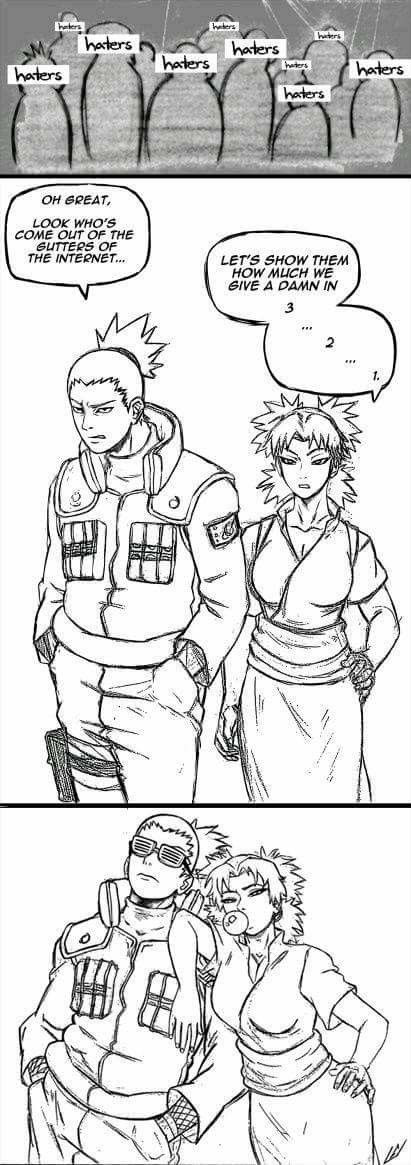 The coolest couple ♥♥♥ ShikaTema ♥ #HatersGonnaHate #Chill