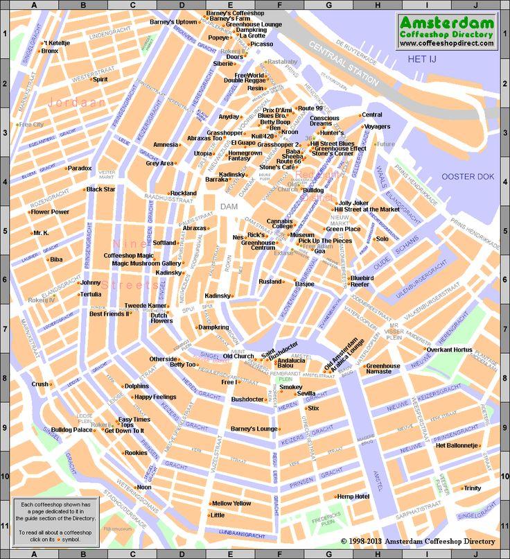 Amsterdam coffee shop directory