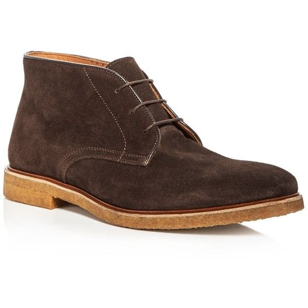 Bruno Magli Men's Chavez Suede Chukka Boots (1.415 BRL) ❤ liked on Polyvore featuring men's fashion, men's shoes, men's boots, dark brown, bruno magli mens shoes, dark brown mens dress shoes, mens shoes, mens shoes chukka boots and mens suede boots