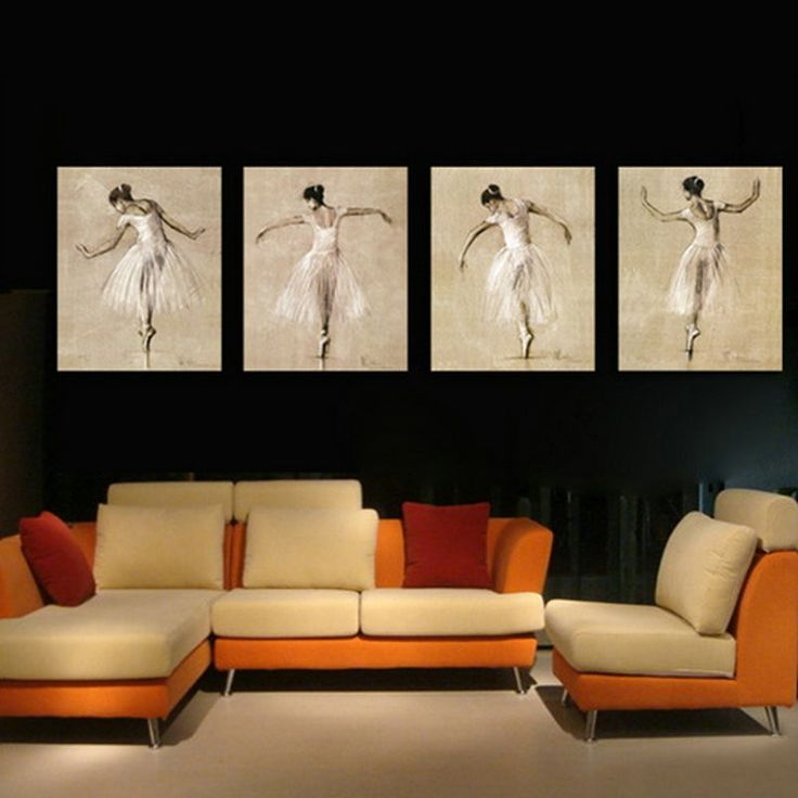Multi Panel Oil Painting : Ballerina Ready To Hang  In Depth 100% handmade Oil Painting Wall Decor on canvas. Model Number: Jen-3114 Type: handmade Style: Realist Subjects: Ballerina Medium: Oil Support Base: Canvas Size: 60 x 50cm x 4pce Weight: 2kg Delivery Date: In stock: within 14 working days; out of stock: 21 - 30 working days
