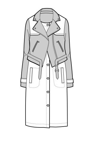 FASHION DRAWING ... A/W 15/16 Design Direction: Womenswear outerwear ... insane layered moto/trench