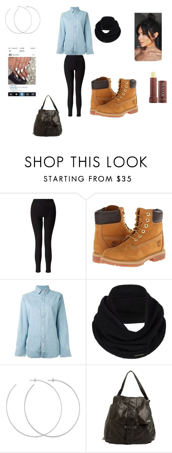 """Timberland Outfit"" by deonnaturner on Polyvore featuring Miss Selfridge, Timberland, rag & bone/JEAN, prAna, Allison Bryan, RVCA and Fresh"