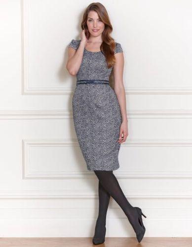 Bravissimo-JERSEY-BLUE-SPOT-Dress-by-Pepperberry-RRP-75-58