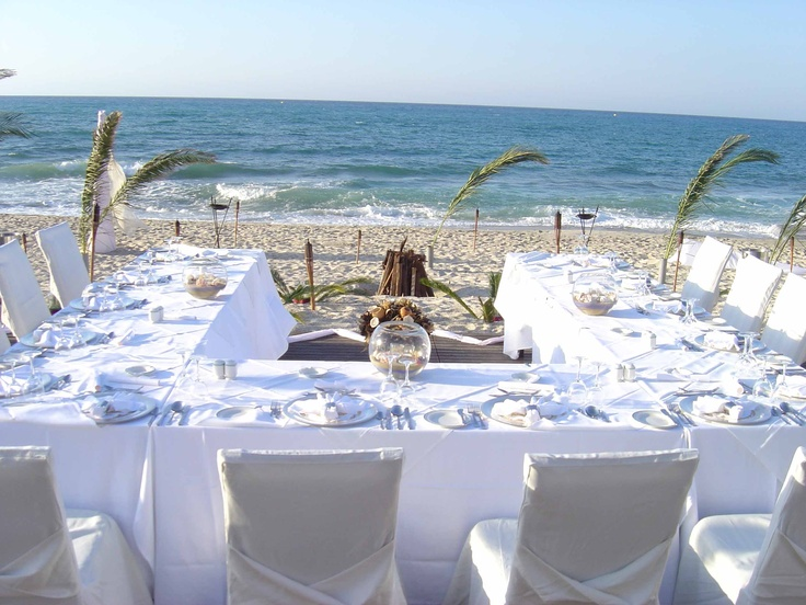My wedding reception on the beach-this is the perfect layout for a small reception... nobody gets left out..