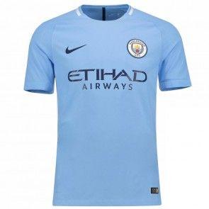 Manchester City Domácí Dres 17-18 Krátký Rukáv