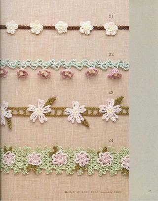 Lacework Flower Motif-flower bud would make beautiful edging on baby girl afghan or blanket