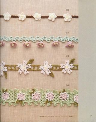 Lacework Flower Motif-flower bud would make beautiful edging on baby girl afghan or blanket