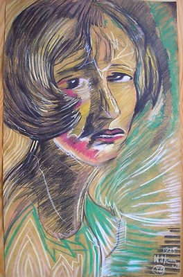 WITKIEWICZ - WITKACY SIGNED PAINTING PASTEL