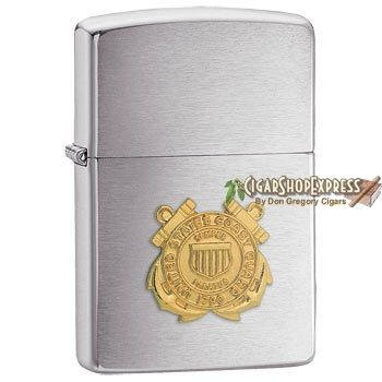 New Online Cigar Deal: United States Coast Guard Emblem – $27.08 added to our Online Cigar Shop https://cigarshopexpress.com/online-cigar-shop/lighters/lighters-zippo-lighters/united-states-coast-guard-emblem/ Zippo United States Coast Guard Emblem is a beautiful tribute to our troops. A raised gold-toned emblem shines against Zippo's simple and classy Brushed Chrome finish. This ...