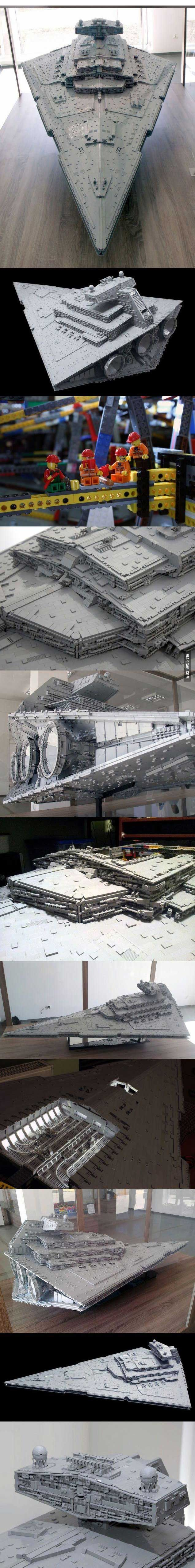 The largest and most accurate LEGO Imperial Star Destroyer (11 Pics)!