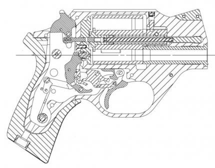 Armi Chiappa Rhino Revolver Cross Section Diagram