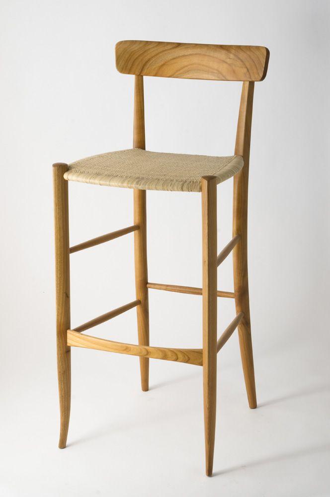 Campanino 900 stool in Cherrywood by Fratelli Levaggi #chiavarichair #chiavarina