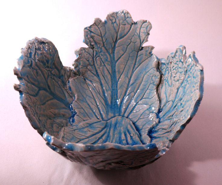 Ceramic bowl, handmade leaves, handmade pottery, handmade bowl, gift by CeramicsNaturalist on Etsy