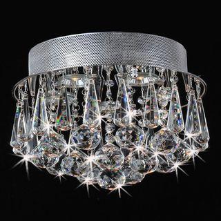 Chrome Flush Mount Drop Crystal Chandelier   Overstock.com Shopping - Big Discounts on Flush Mounts