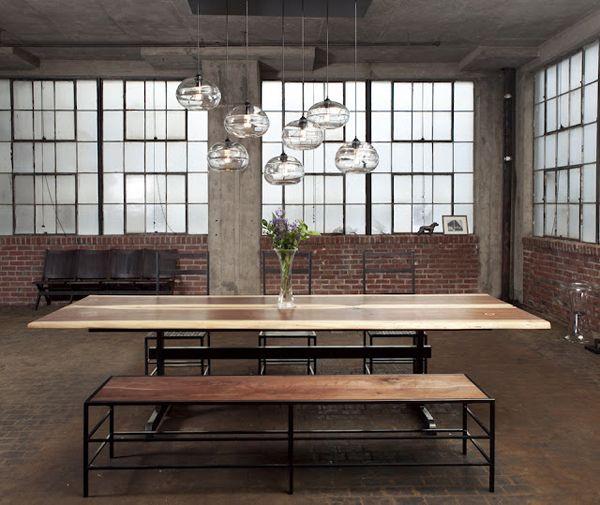 : Modern Interiors Design, Dining Rooms, Bands Pendants, Clear Bands, Ceilings Lights, Design Interiors, Pomp Studios, Pendants Lights, John Pomp