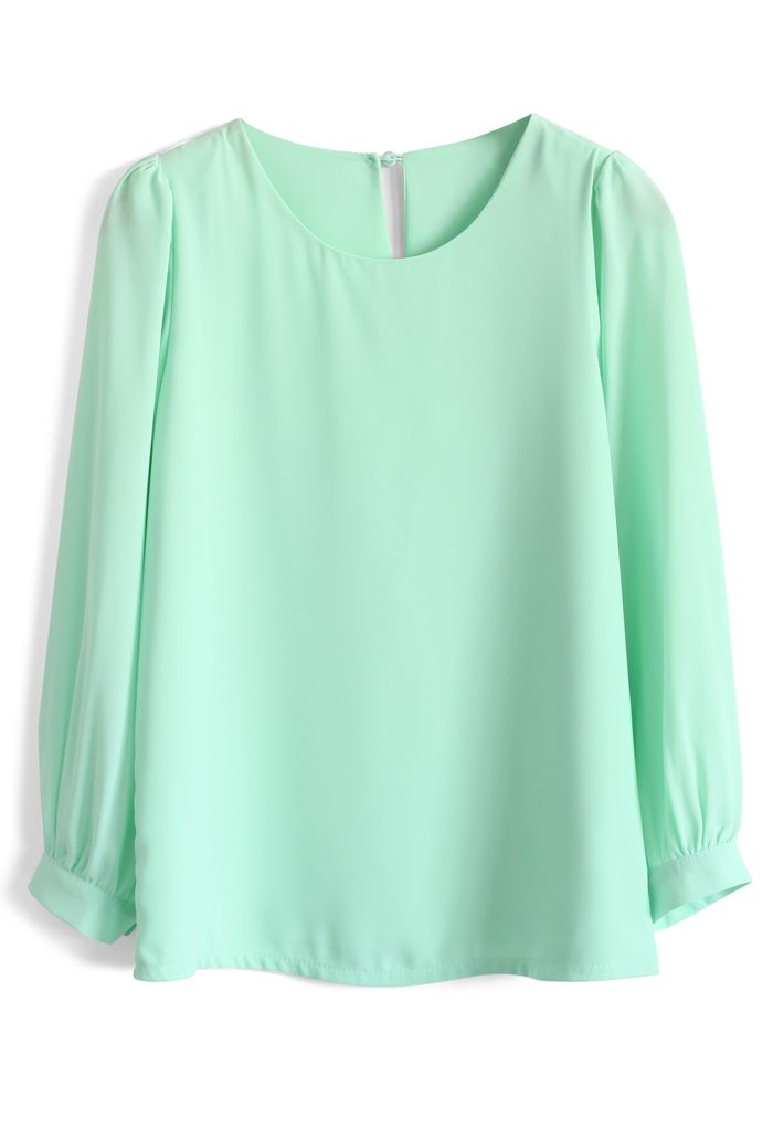In Love with Mint Chiffon Top - New Arrivals - Retro, Indie and Unique Fashion