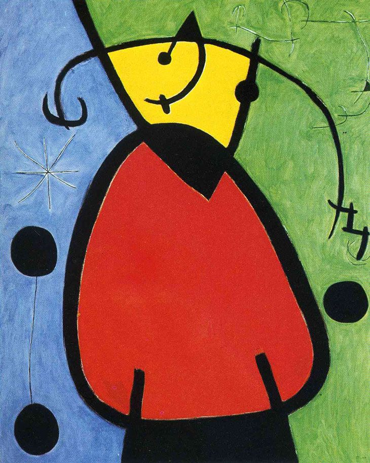 Joan Miró    Gün Doğuşu / The Birth of Day    1968. Tuval üzerine yağlıboya. 120 x 96 cm. Private Collection.