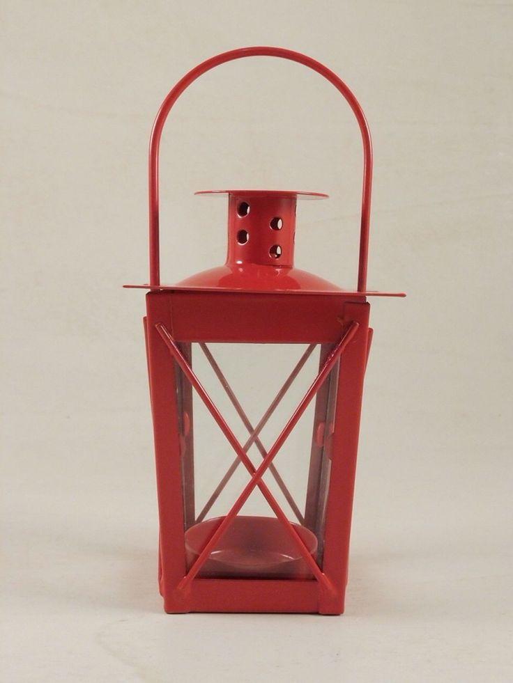 Lanternina in metallo e vetro, ideale per bomboniere.