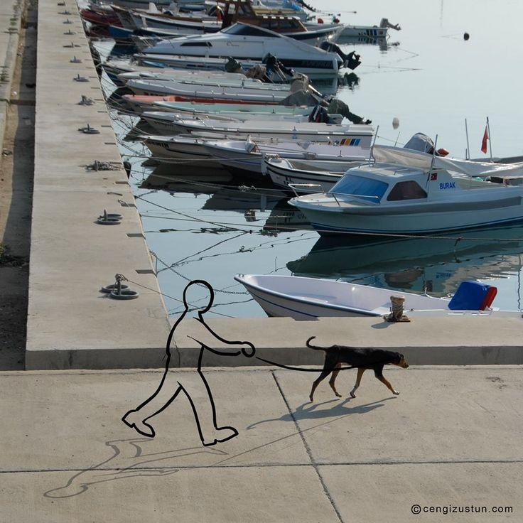 Sanatlı Bi Blog Cengiz Üstün ve Fotoğraflara Eğlenceli Eklemeler - Foto-Çizgi 9