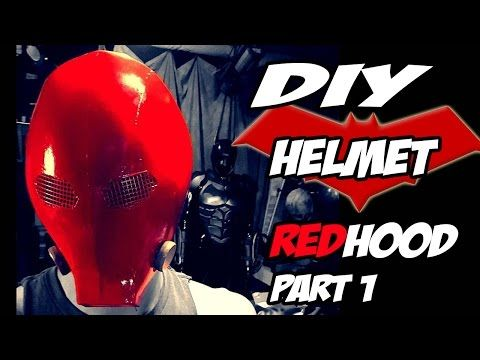 Red Hood Batman Arkham Knight Part 1 Helmet How to DiY - YouTube