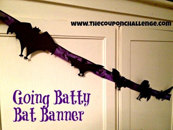 Dollar Store Craft: Going Batty Bat Halloween Banner