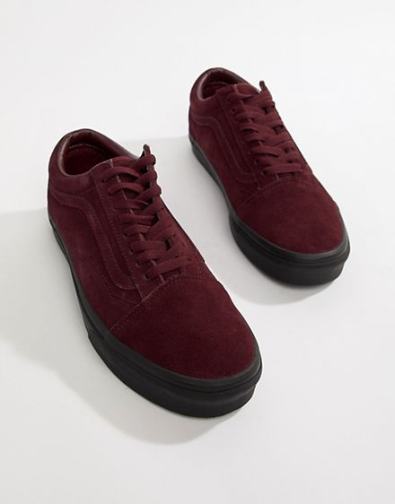 92d5922f19ae Vans Old Skool suede trainers in burgundy VN0A38G1UA41